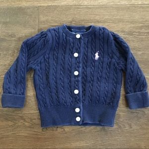 Girls Ralph Lauren Cable Knit Cardigan
